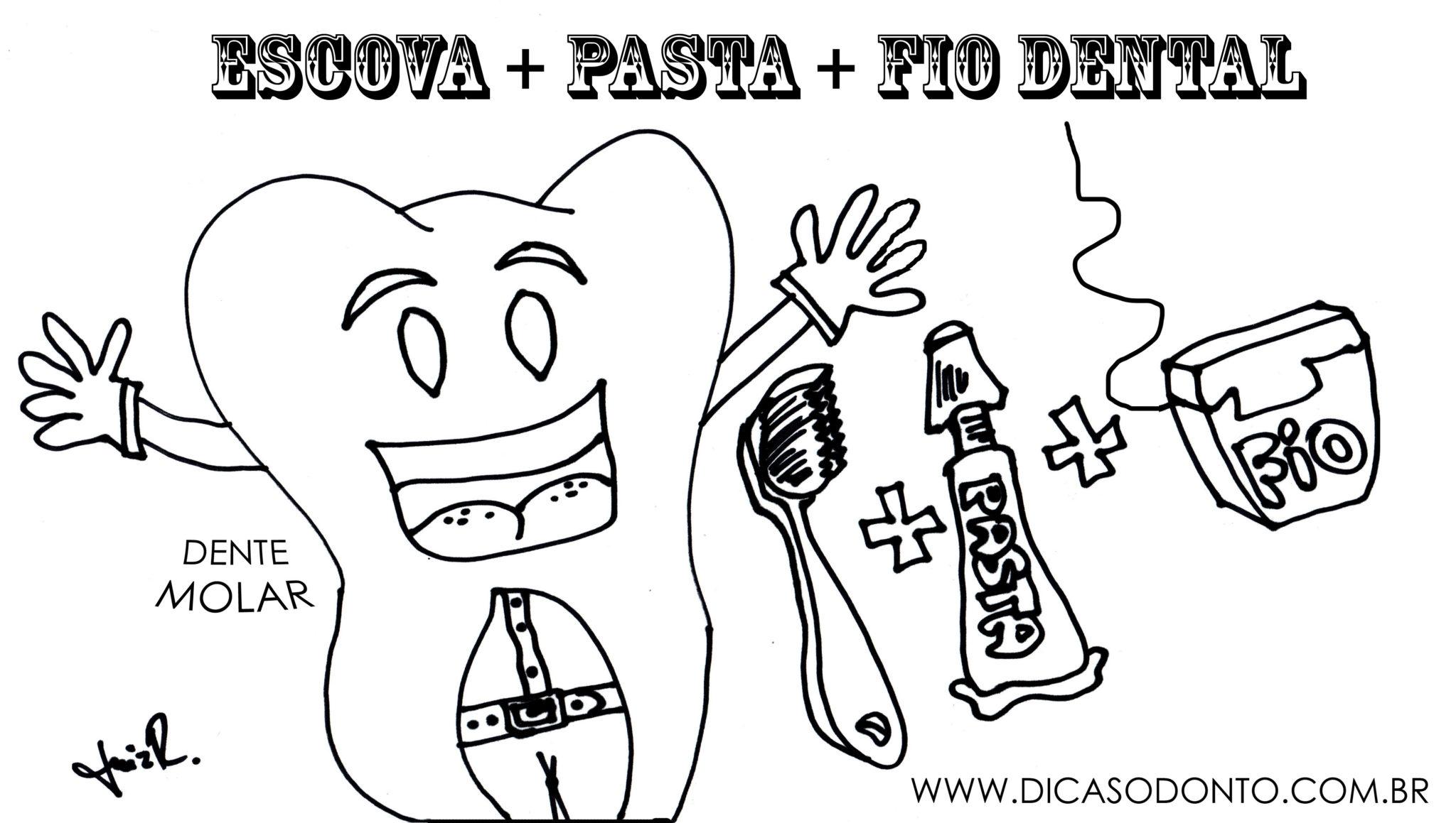 De fio dental escovando os dentes - 2 part 10