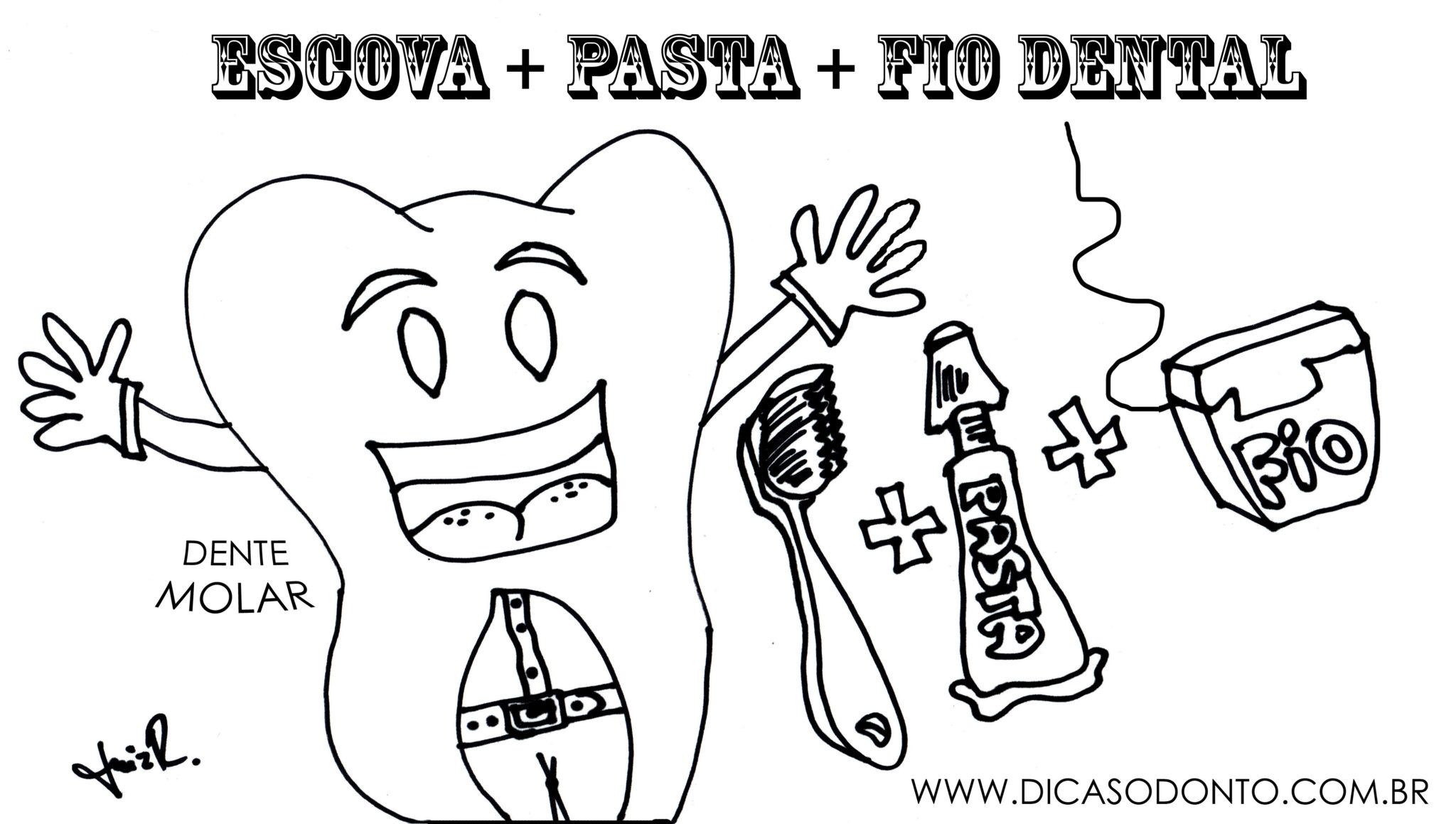 Dente Molar Para Colorir Dicasodonto